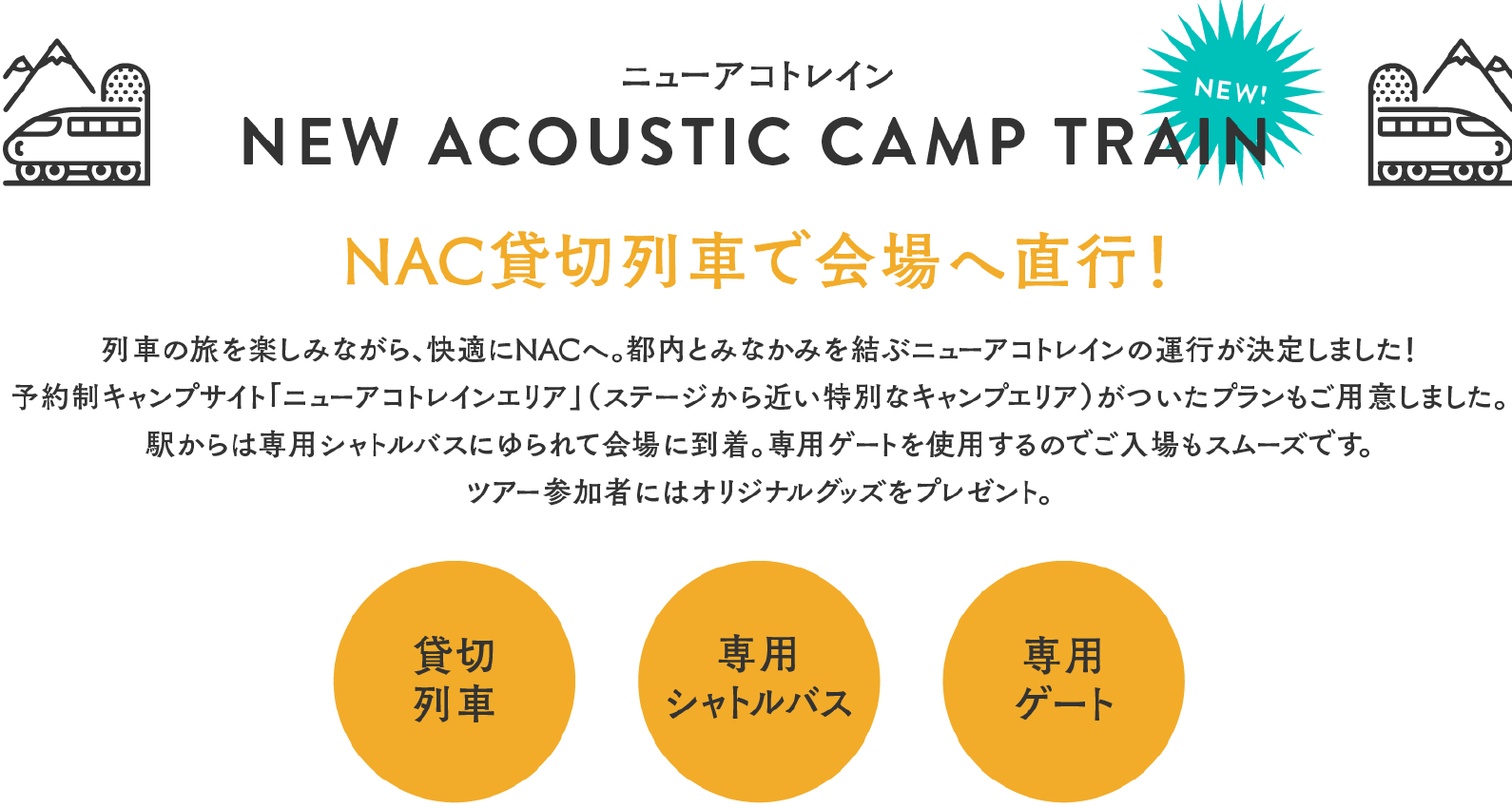NEW ACOUSTIC CAMP TRAIN